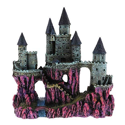 WDDqzf ornamentSkulptur Dekoration Mythische Magic Resin Ornament Schloss Aquarium Landschaft Dekorationen - 23.5X10X25Cm - Dunkelgrün, 23.5X10X25Cm, Rot - Magic Cast