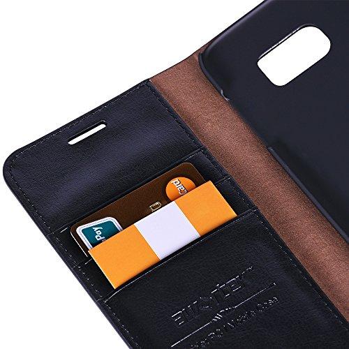 awortek echt Leder für Apple iphone 6 / 6s Schutzhülle Wallet case handytasche Cover Hülle Handyhülle mit Decke Smartphone Handy - schwarz samsung galaxy s7 schwarz