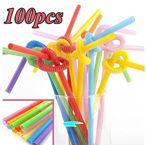 saysure-100pcs-multicolor-long-bendy-drinking-straws