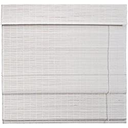 Estor de bambú plegable blanco 140x180 cm