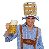 Amakando Oktoberfest Hut Bierfass Partyhut Wiesn Kopfbedeckung Bayern Tirolerhut Bier Bayernhut Seppl Faschingshut