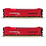 HyperX Savage HX316C9SRK2/8 Red8GB 1600MHz DDR3 CL9 DIMM (Kit of 2) XMP