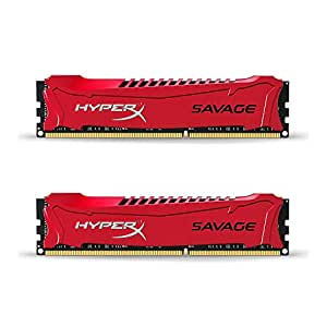 Kingston HyperX Savage Memorie DDR-III da 8 GB, 2x4 GB, PC 2133, Rosso