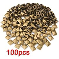 Gleader 100 x Remaches Tachuelas Bronce Hierro Piramide Bisuteria para Cuero