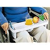 De la pierna de la cama de la cama de la bandeja de colour blanco de la mesa de juego de mesa para ruedas de la pierna de la bandeja de 42 x 17 cm