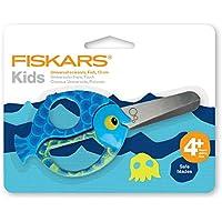 Fiskars 1378 - Tijeras para niños, diseño pescado, 13 cm