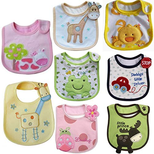 Voiks 1Pcs Baby Bibs Waterproof Layer Absorbent Bandana Drool Bibs Cotton for...