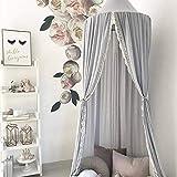Handfly Cama con Dosel de algodón para niños, Cama con