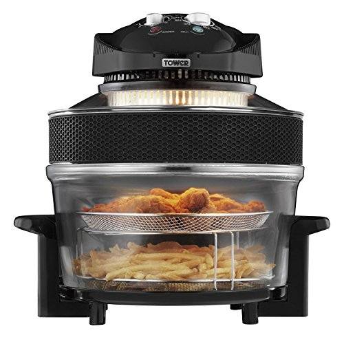 An image of the New 1300W Tower Airwave Low Fat Air Fryer 17 litre Capacity 5L extender ring.