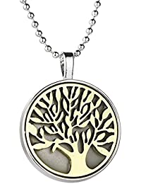 Hexawata Tree Of Life Glow In The Dark Pendant Necklace (Gold)