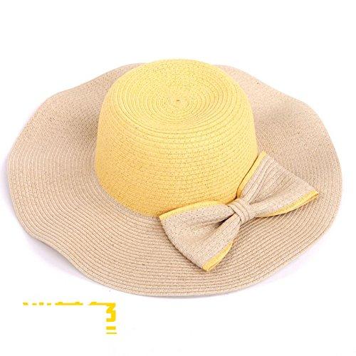 plage Mode chapeau/Grand chapeau de soleil à larges bords/Été dames visière/Grand chapeau de paille B