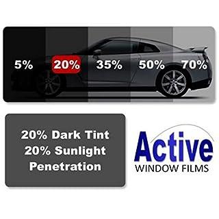 Active Film Limo Black, Medium, Light & Ultra Light Car Auto Tint Window Tinting Film 20% Medium Black 4mx50cm