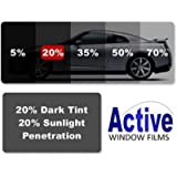 Active Film Limo Black, Medium, Light & Ultra Light Car Auto Tint Window Tinting Film 20% Medium Black 10mx100cm