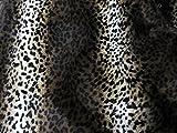 Leopard Stoff dunkel Fell Tierfell Imitat Velboa Meterware