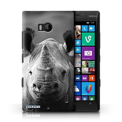 iCHOOSE Print Motif Coque de protection Case / Plastique manchon de telephone Coque pour iPhone 6+/Plus 5.5 / Collection Animaux de zoo / Loup Rhinocéros
