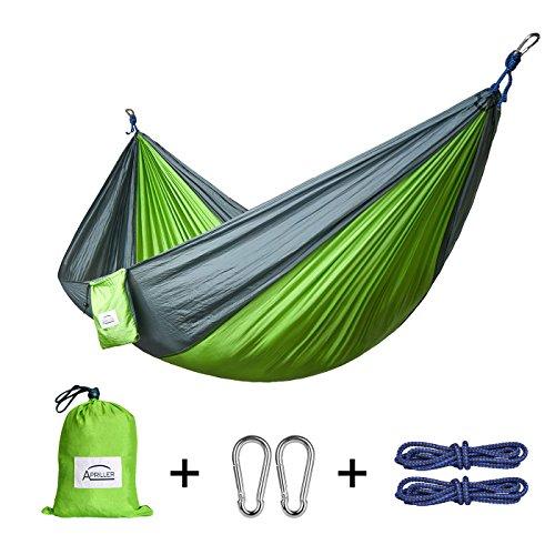 Hängematte Outdoor,Apriller Doppel- und Einzel Camping Ultra Tragbare Nylon Fallschirm Multifunktionale Schaukel Für Kinder Licht Reisen Wandern
