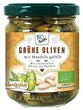 Biogustí Grüne Oliven mit Mandeln gefüllt Bio, 6er Pack (6 x 190 g)