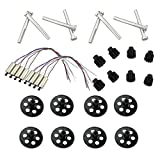 Homyl 8pcs Grand Engrenage + 8pcs Petit Engrenage + 8pcs Moteurs + 8pcs Arbre en Métal pour Drone RC VISUO XS809HC XS809HW XS809