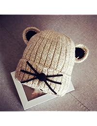 3d30c517ac8 DEED Enfants Chapeau d hiver Chapeau épais Hommes et Femmes écharpe écharpe  Chapeaux tricotés