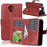 SUPPASE Huawei Y635 Case,Classic Durable PU Leather Wallet