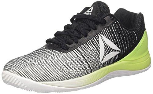 Reebok crossfit nano 7, scarpe da fitness donna, multicolore (white/electric flash/black), 38 eu