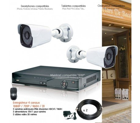HD-Dahua--Sistema-de-Video-Vigilancia-con-2-Cmaras-exteriores-IR-30-m--kit-d25--2-x-2940--sin-disco-duro
