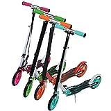 Hehilark 205mm PU Rollen Stylisch und klappbar Scooter Roller Kinderroller Tretroller Cityroller Kickroller Kickscooter Kinder Max.Benutzergewicht 120 KG (Grün)