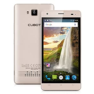Cubot Echo 5.0 Inch IPS HD Display 3G Smartphone Android 6.0 MT6580 Quad-Core 1.3GHz Mobile phone Dual SIM Dual Standby 2GB RAM + 16 GB ROM 13.0MP Back Camera with 3000mAh Battery Cellphone (Gold)