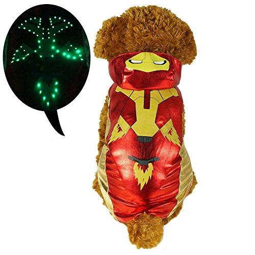 pawow LED Tricks spide-man Kleidung Pet Kostüm für Hunde Puppy dogggie (Super Awesome Halloween Kostüme)