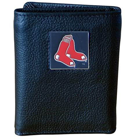Boston Red Sox Deluxe Leather Tri-fold Wallet by Siskiyou