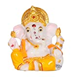 Aica Lord Ganesha Ganesh Ganpati Idol murti Statue Idols Car Dashboard Hindu Figurine Showpiece showpieces Gift Gifts Home Decor Office puja Pooja Temple Room Living Room House Warming