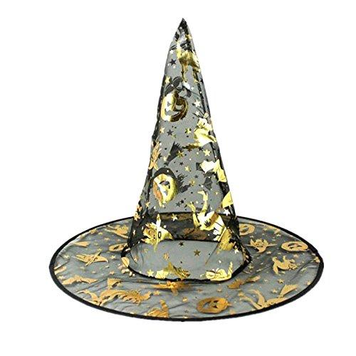HEALIFTY Zauberer-Hut Hexenhut für Kostüm-Bälle/Halloween- / Bärn-Stab-Dekoration (10pcs -