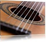 Gitarrensaiten black and white Music Format: 120x80 cm auf Leinwand, XXL riesige Bilder fertig gerahmt mit Keilrahmen, Kunstdruck auf Wandbild mit Rahmen, günstiger als Gemälde oder Ölbild, kein Poster oder Plakat