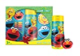 Sesame Street Set Unisex, Bade Duschgel 250 ml, 2x Schaumbad je 60 ml, 4x Bad Buntstifte, Elmo Waschtuch 30 x 30 cm, 1er Pack (1 x 370 ml)