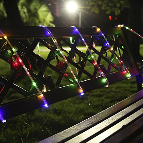 Ofun led rope lights outdoor 10m 100leds waterproof string lights ofun led rope lights outdoor 10m 100leds waterproof string lights battery operated 8 lighting modes fairy lights outdoor lights for christmas garden patio aloadofball Image collections