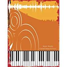 """Music Sheets Cornell Notes 8.5""""x11"""": Music Sheets, Pages, Notes Taking System Manuscript, Staff Paper, 12 Staves Per Pages with 5 Lines, Music ... 150 Pages, Large 8.5""""x11"""" Paperback A4 Size"""