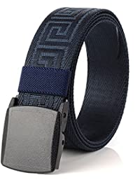 Fasbys Outdoor Hiking Belt Unisex Belt Tactical Gun Belt Police Duty Belt with Plastic Nickel Buckle