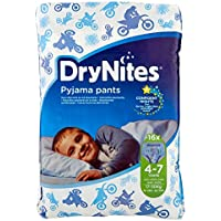 DryNites - Calzoncillos absorbentes para niños de 4-7 años, 2 paquetes x 16 calzoncillos (32 calzoncillos)