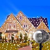 Clearance Sale LED Schneeflocken Projektor Weihnachtsbeleuchtung Außen Schneefall Projektor Weihnachten Dekorative Beleuchtung LED Schneeflocken Licht Projektionslampe