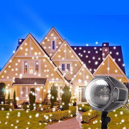 Clearance Sale Decoration de Noël Exterieur LED Projecteur de Flocon de Neige Eclairage Exterieur Noël Lumière de Flocon de Neige Eclairage de Jardin Décoration de Vacances