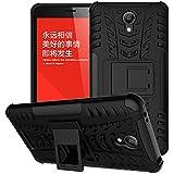Voguecase® Para Xiaomi Redmi Note 2, Funda Carcasa Duro Tapa Case Cover con soporte (negro) + Gratis aguja de la pantalla stylus universales