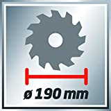 Einhell Handkreissäge TC-CS 1400 (1400 W, max. 66 mm, Sägeblatt Ø 190, 24 Zähne, Softstart, Parallelanschlag) -