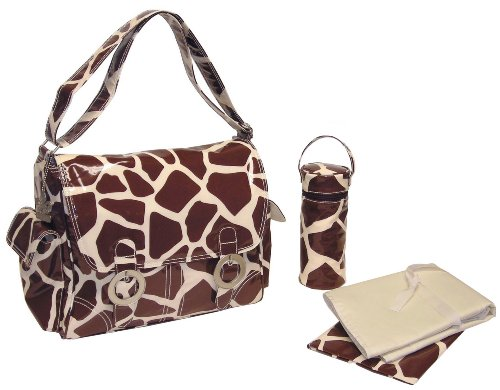 kalencom-fashion-diaper-bag-changing-bag-nappy-bag-mommy-bag-coated-double-buckle-bag-giraffe-chocol