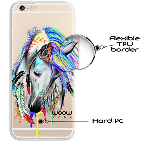 iPhone 6 6S Hülle, WoowCase® [ Hybrid ] Handyhülle PC + Silikon für [ iPhone 6 6S ] Universum Mädchen Mehrfarbig Handytasche Handy Cover Case Schutzhülle - Transparent Hybrid Hülle iPhone 6 6S H0010
