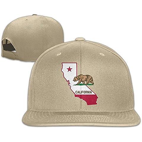T yuuk California Esquema y bandera unisex ajustable gorra de béisbol y sombrero para las mujeres &