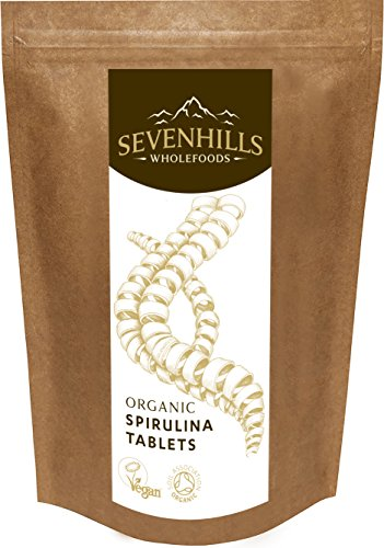 Sevenhills Wholefoods Organic Spirulina 500mg Tablets Pack of 1000, 500g Test