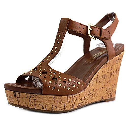 Naturalizer Riley Leder Keilabsätze Sandale Saddle Lea