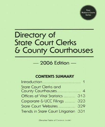 Directory of State Court Clerks & County Courthouses 2006