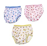 PEUBUD ® Reusable Waterproof Washable Inside Cotton Outside PlasticPanty/Training Pants/Diaper Newborn Baby 3-12 Month - Pack of 3