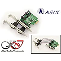 KALEA-INFORMATIQUE - Carte Controleur PCI Express (PCIe) Parallèle IEEE1284 LPT SPP / ECP et SERIE RS232 (5V 12V ajustables) - Chipset ASIX - Low et High Profile - WINDOWS / LINUX / ANDROID